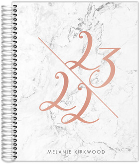Rose Gold Year Marble Student Planner