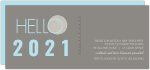 Gray and Blue Ball New Years Invite