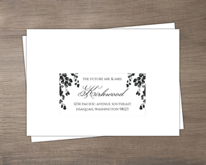 Black Watercolor Decor Wedding Rsvp Envelope