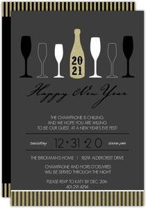 Party Lights New Years Party Invitation