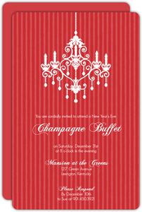 Elegant Red New Years Party Invitation