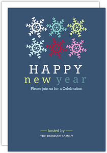 Dancing Snowflakes New Years Party Invitation