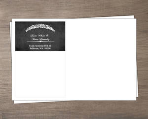 Gray Vintage Halloween  Wedding Envelopes