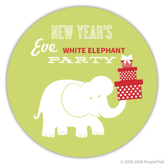 New year s white elephant gift exchange party invitation new years new year s white elephant gift exchange party invitation negle Choice Image
