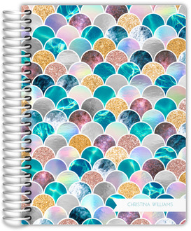 Faux Glitter Mermaid Scales Student Planner