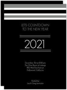 White Stripes Years Party Invitation