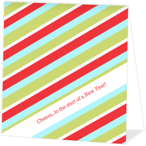 Colorful Stripes New Years Party Invitation