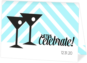 Martini Glasses New Years Cheers Party Invite
