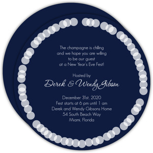Midnight Blue New Years Party Invitation