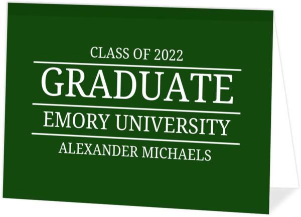 Simple Blue Lined Typography Graduation Invitation