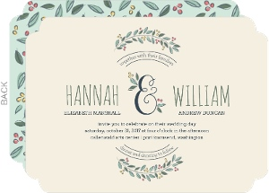 Flourished Ampersand Wedding Invitation