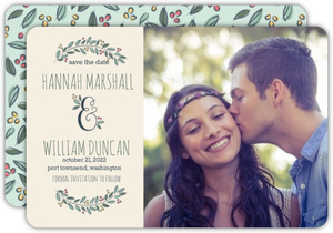 Flourished Ampersand Save the Date Announcement
