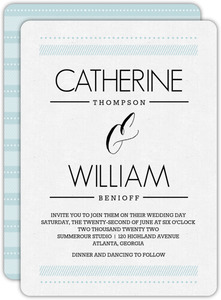 Patterned Typography Wedding Invitation
