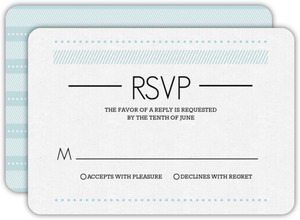 Patterned Typography Wedding Response Card