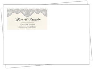 Lace And Gray Envelope