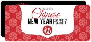 Traditional Red Chinese New Year Invite