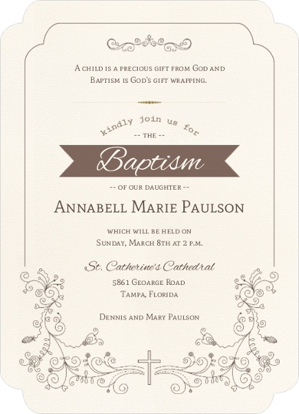 Formal and elegant baptism invitation baptism invitations formal and elegant baptism invitation stopboris Image collections