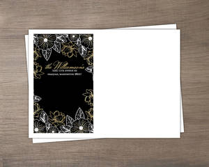 Elegant Floral Decor Custom Envelope
