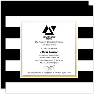 Classic Stripe Corporate Open House Invitation