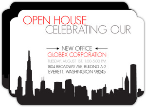 New Office Corporate Open House Invitation