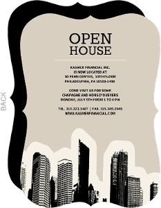 City Skyline Business Open House Invitation