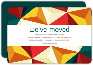 Bold Geometric Business Open House Invitation