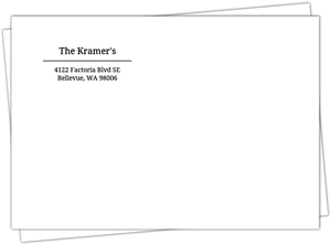 Black and White Address Label Envelope 6.25x4.25