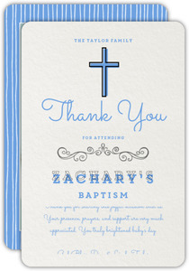 Simple Blessings Baptism Thank You Card