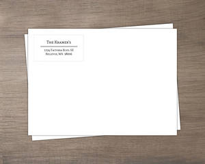 Black and White Address Label Envelope 7.25x5.25