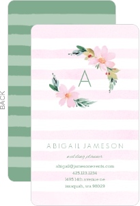 Watercolor Wreath Business Card