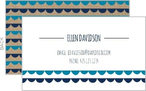 Scalloped Cutout Business Card