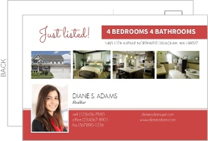 Red Realtor Business Postcard