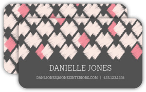 Pink Ikat Pattern Business Card