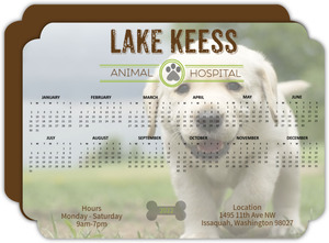 Animal Hospital Business Calendar Card