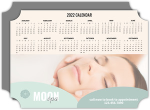 Spa Business Calendar Card