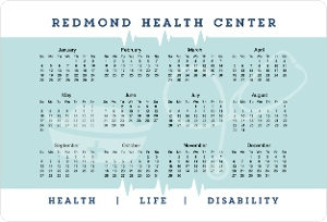 Clean Health Business Magnet Calendar