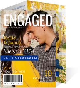 Front Cover Magazine Engagement Announcement
