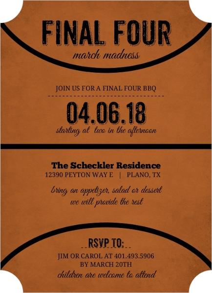 Rustic black and orange basketball invitation basketball invitations rustic black and orange basketball invitation stopboris Choice Image