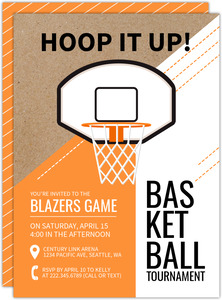 Modern Poster-Like Basketball Invitation