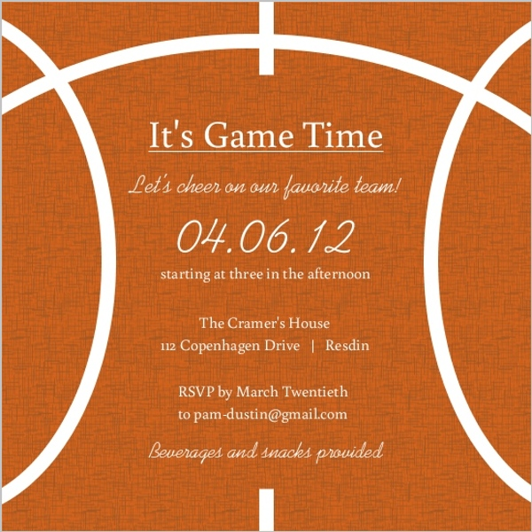 Burlap And Orange Basketball Invitation Basketball Invitations