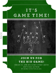 Scrimmage Game Time Football Party Invitation