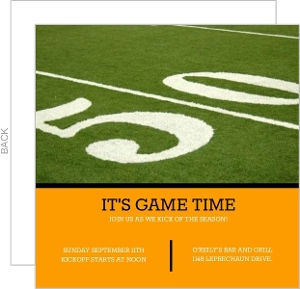 50 Yard Line Football Invitation
