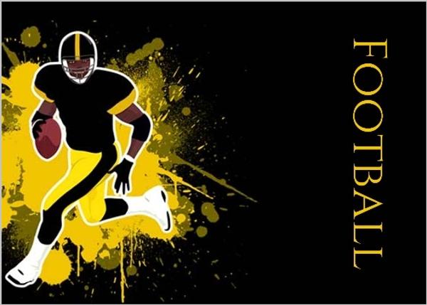 Black And Yellow Football Party Invitation Football Invitations