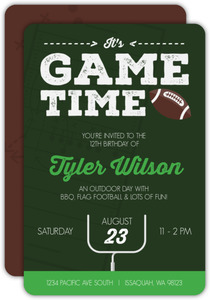 Game Day Football Invitation