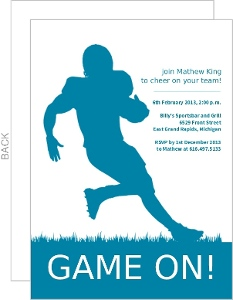 Runningback Football Invitation