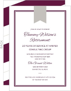 Classic Frame Corporate Retirement Invitation
