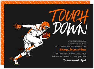 Touchdown Quarterback Football Party Invitation