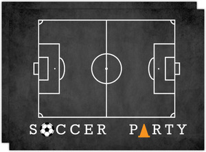Chalkboard Soccer Field Party Invitation