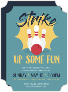 Strike Bowling Invitation