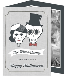 Sugar Skulls Photo Halloween Card